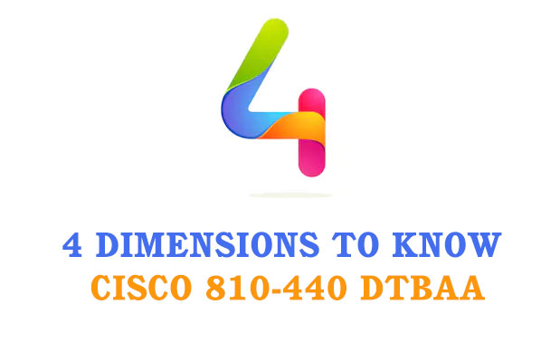 4 dimensions to know Cisco 810-440 DTBAA