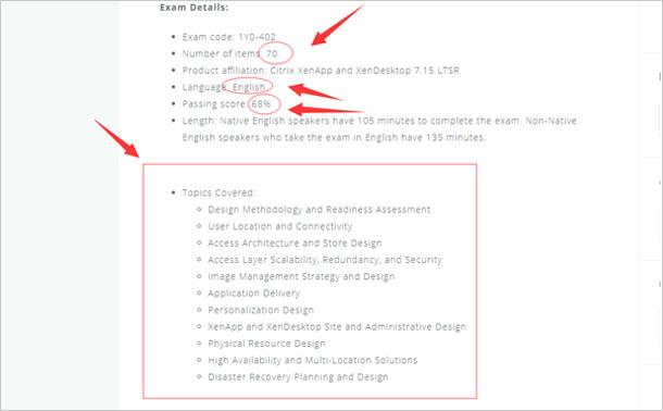 1Y0-402 exam information